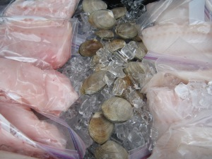 Sole and steamer clams..always amazingly fresh fish from Wild Oregon...