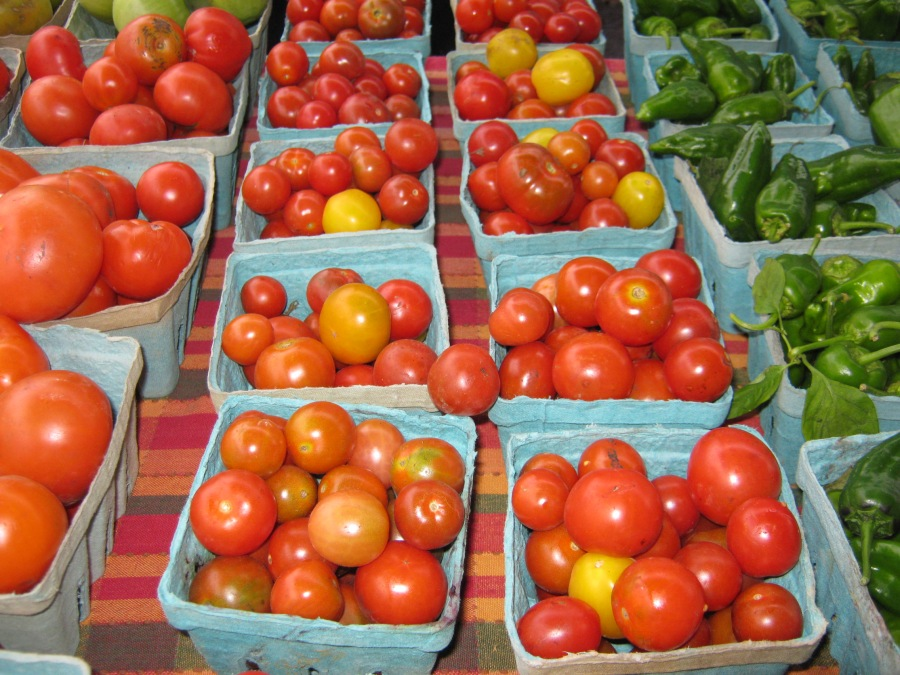 Fresh veggies from Rick Steffens, RJ and Family Table Farms...including the last of the local tomatoes!