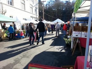 Beautiful day at the last Market , we'll be there rain or shine this Saturday!