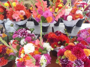 The last of C&K Flower Farm's bouquets this Saturday!