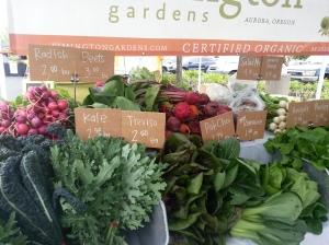 Simmington Gardens Certified Organic produce.