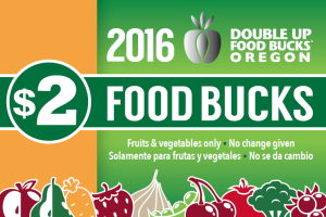 Double Up Food Bucks will match SNAP card purchases with up to $10 each market day~!